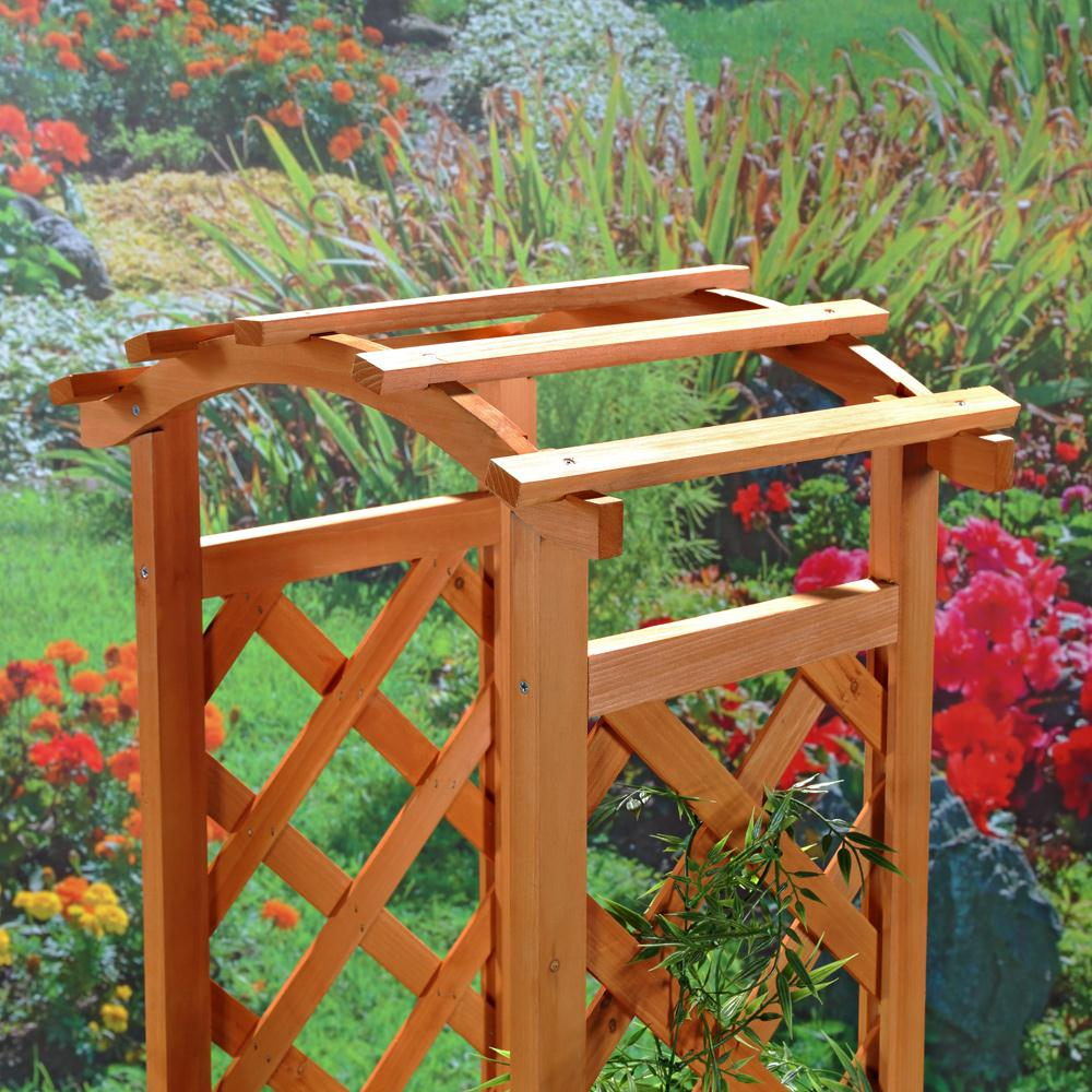 Arco per rose incl fioriera in legno giardino decorazione for Arco decorativo giardino