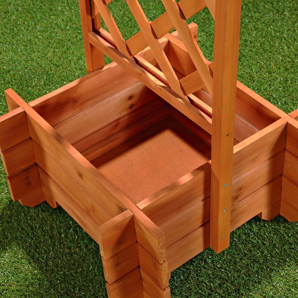 rankgitter pflanzkasen aus holz torbogen pflanztrog. Black Bedroom Furniture Sets. Home Design Ideas