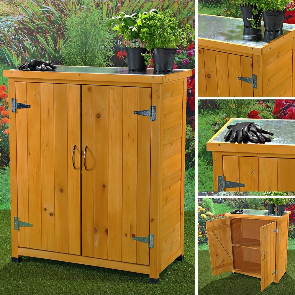 Gartenschrank ger tehaus ger teschuppen werkstattschrank gartenhaus holz ebay - Kleiner gartenschrank ...