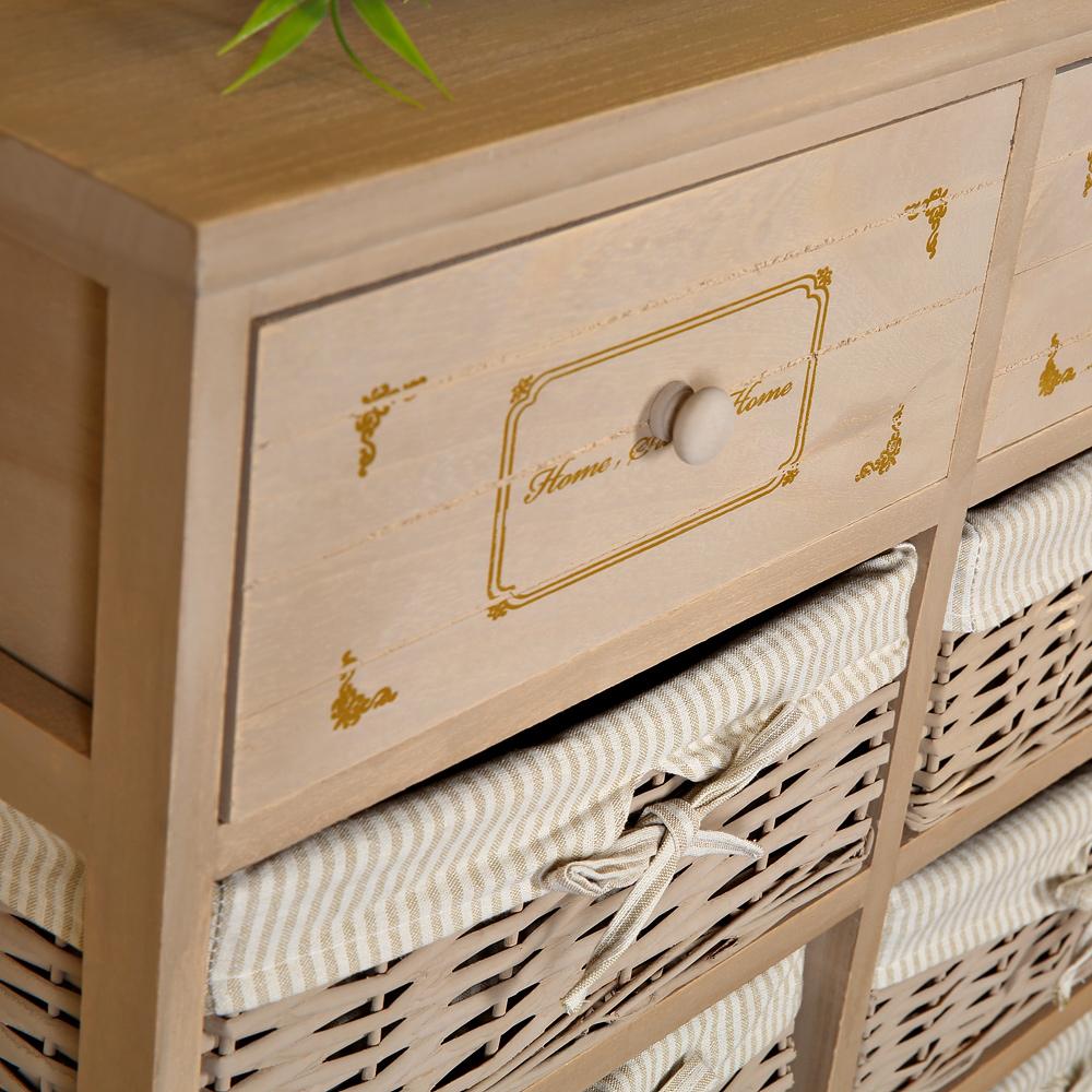 Cottage Shabby Dresser Kitchen Cabinet Hallway Shelf