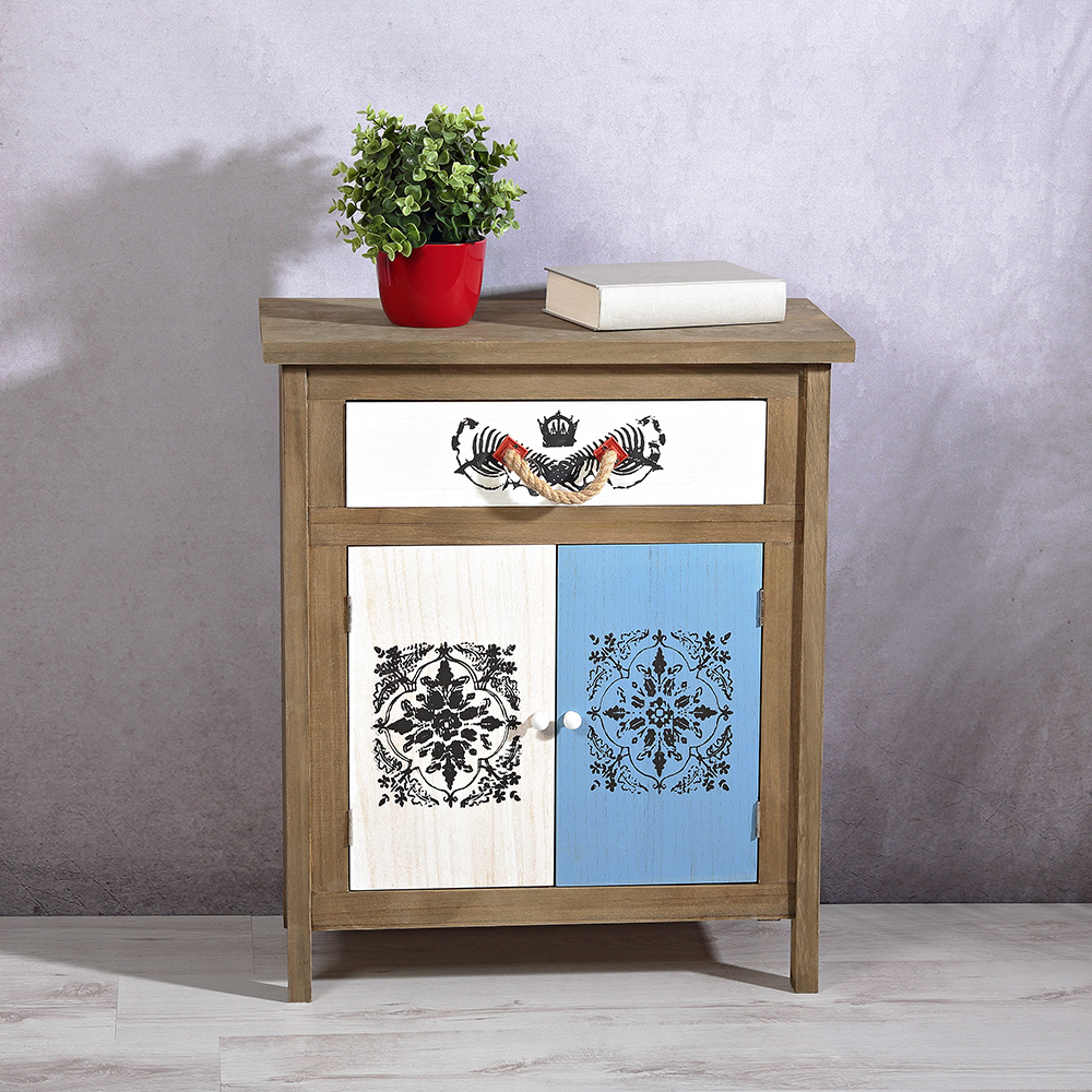 flurschrank mit schublade staufach shabby holz kommode sideboard vintage ebay. Black Bedroom Furniture Sets. Home Design Ideas