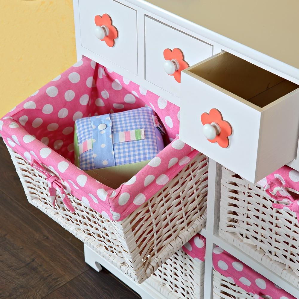 Kommode sideboard anrichte kinderzimmer beistellschrank rosa aufbewahrung wei ebay - Kinderzimmer sideboard ...