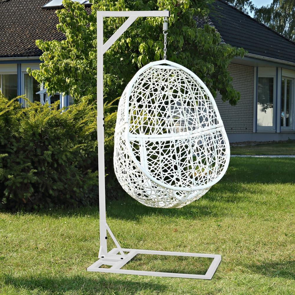 H ngesessel poly rattan kissen swing chair schwebesitz - Hangestuhl rattan ...
