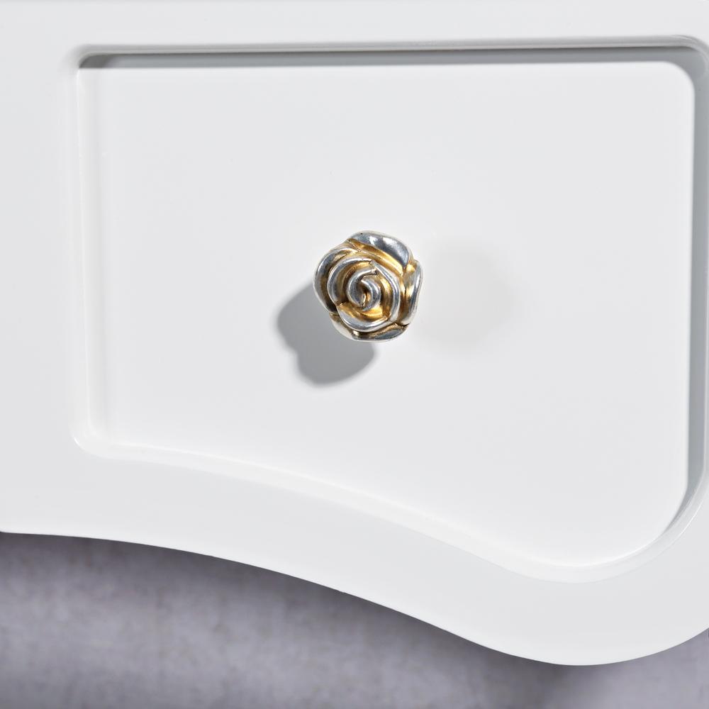 design schminktisch polsterhocker rund wei. Black Bedroom Furniture Sets. Home Design Ideas