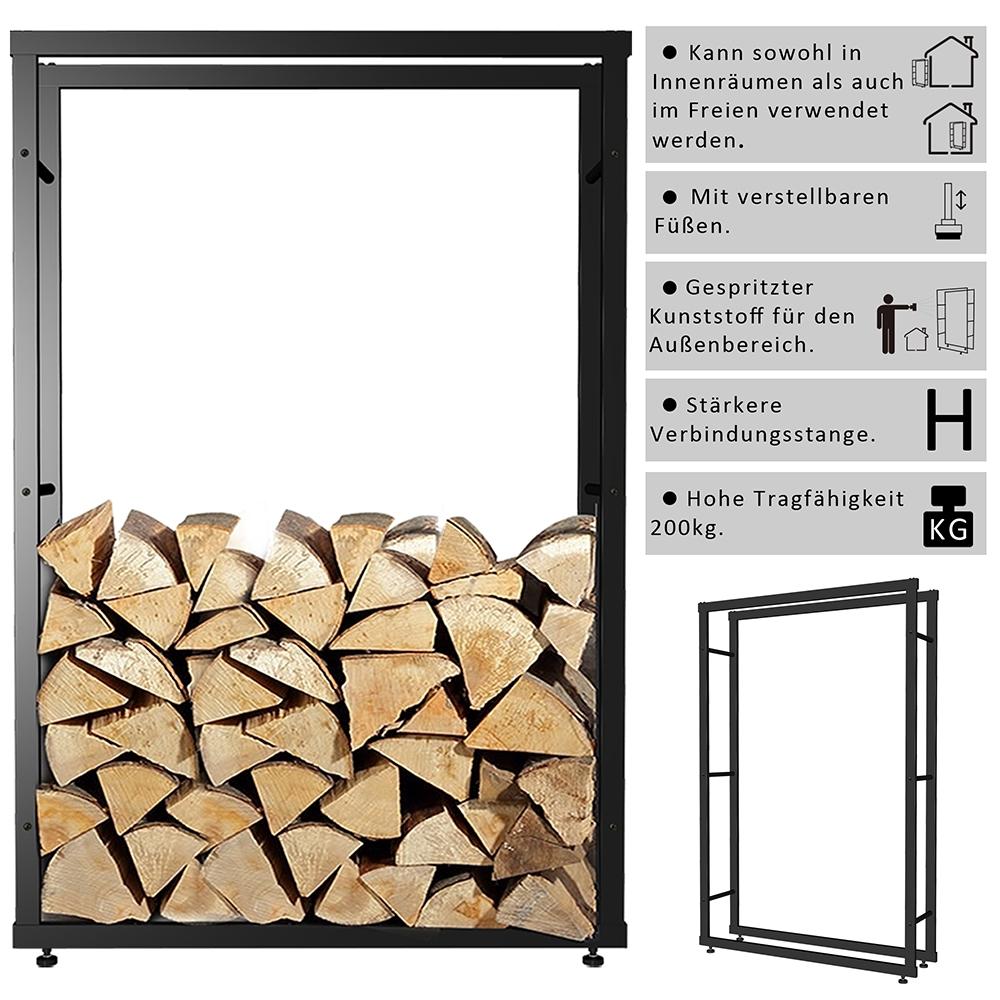 150x60cm kaminholzregal feuerholzregal regal halter brennholz kaminholzhalter ebay. Black Bedroom Furniture Sets. Home Design Ideas