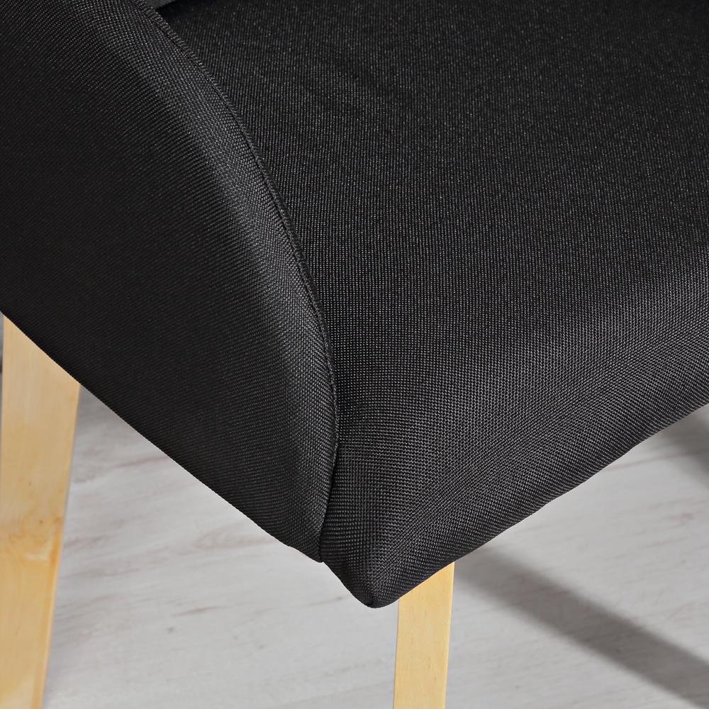 2er set design esszimmerstuhl armlehne schwarz for Esszimmerstuhl schwarz