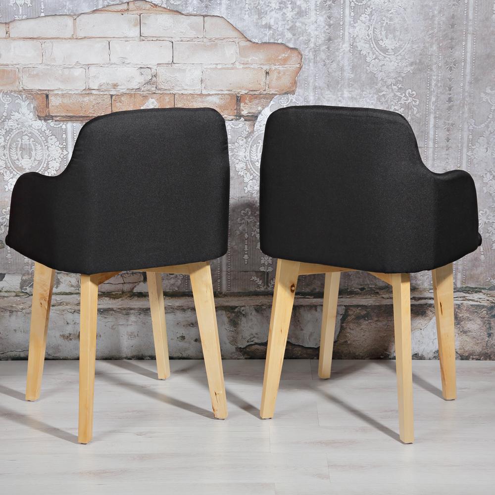 2er set design esszimmerstuhl armlehne schwarz. Black Bedroom Furniture Sets. Home Design Ideas