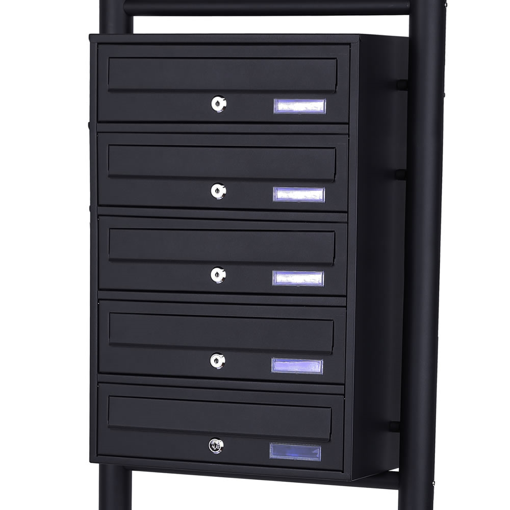 5 fach briefkasten standbriefkasten anlage postkasten. Black Bedroom Furniture Sets. Home Design Ideas