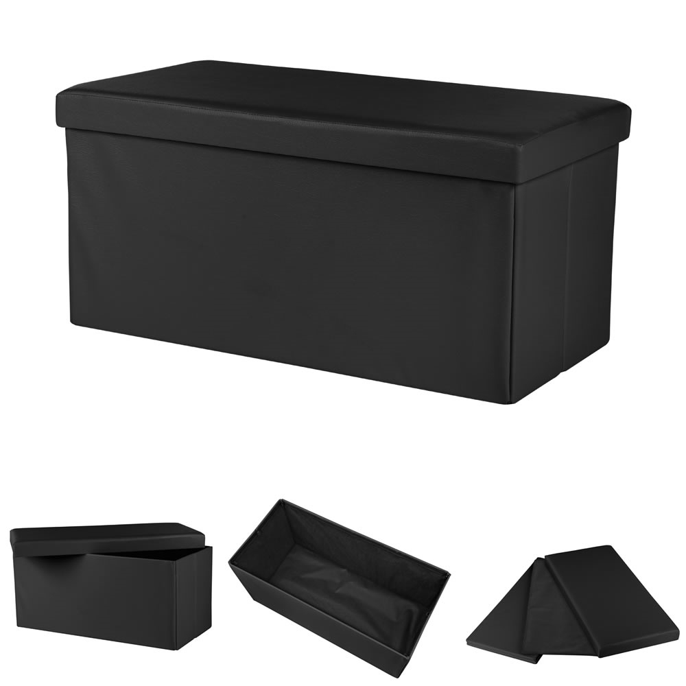 Storage Box Foldable Ottoman Seat Chest Chest Bench