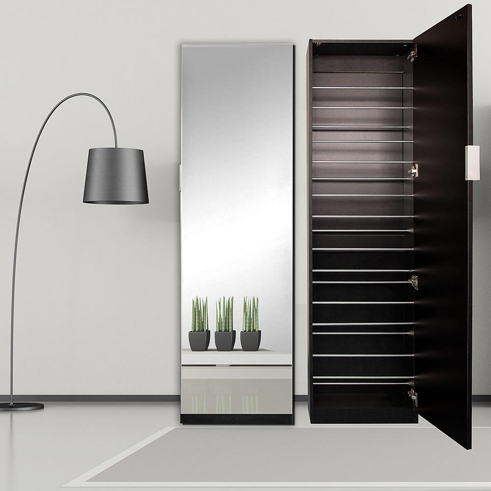 180cm mirror shoe cabinet black hallway cupboard dresser shoe cabinet shoe shelf ebay