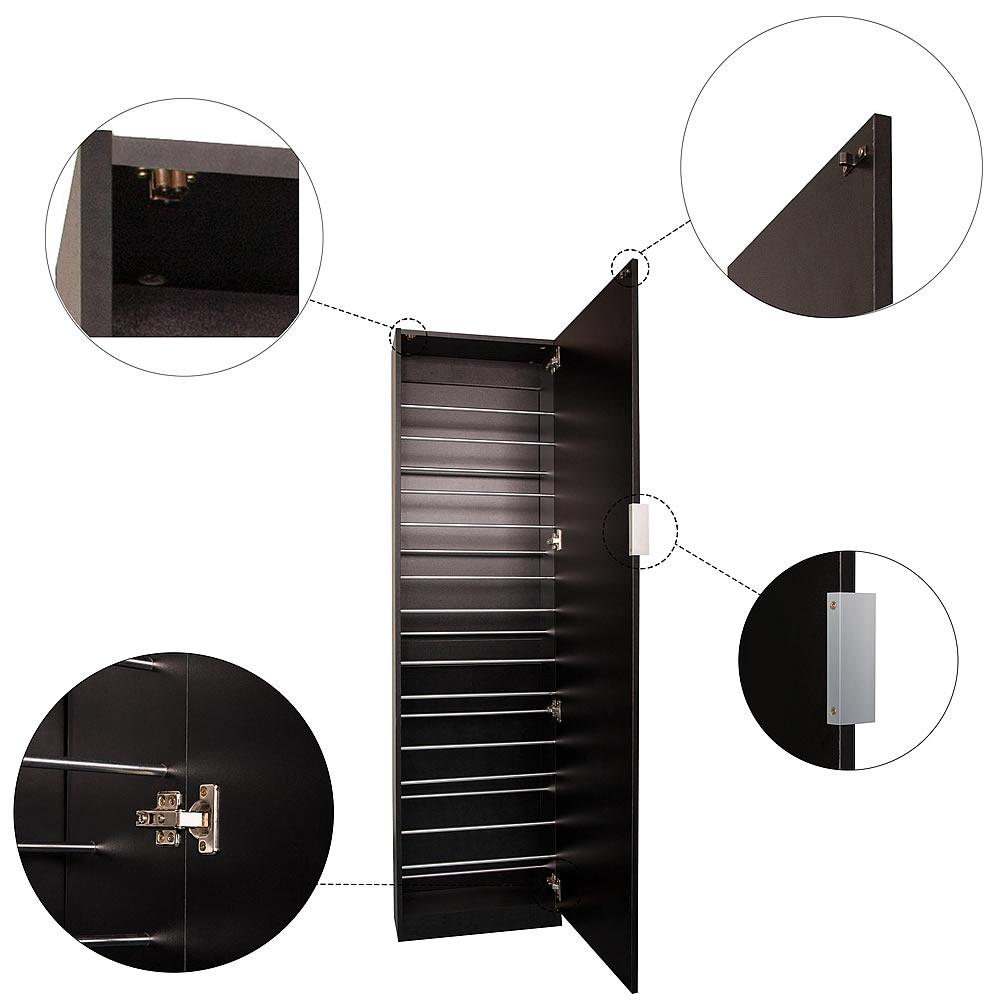 180cm spiegelschuhschrank schwarz flur schrank kommode. Black Bedroom Furniture Sets. Home Design Ideas