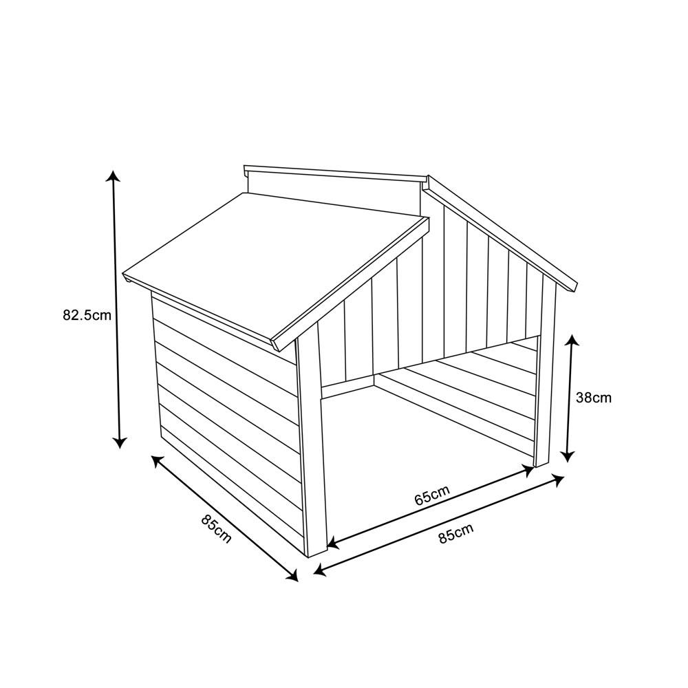 Holzgarage Für Mähroboter   Grünes Dach