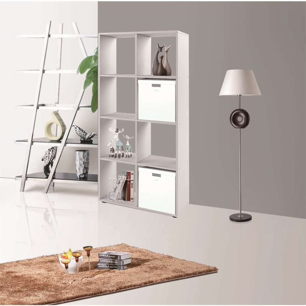 raumtrenner wei 8 f cher b cherschrank regalwand kinderregal holzregal regal ebay. Black Bedroom Furniture Sets. Home Design Ideas