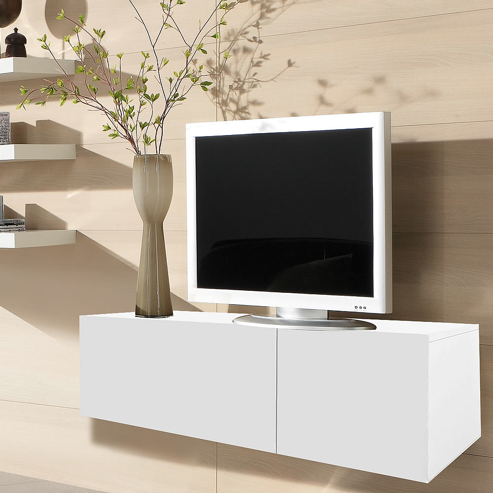 lowboard wei tv bank fernsehtisch fernsehunterschrank tv. Black Bedroom Furniture Sets. Home Design Ideas