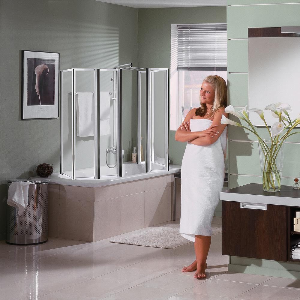 Badewannen duschfaltwand duschkabine badewannenaufsatz faltwand dusche duscht r ebay - Duschfaltwand fur dusche ...