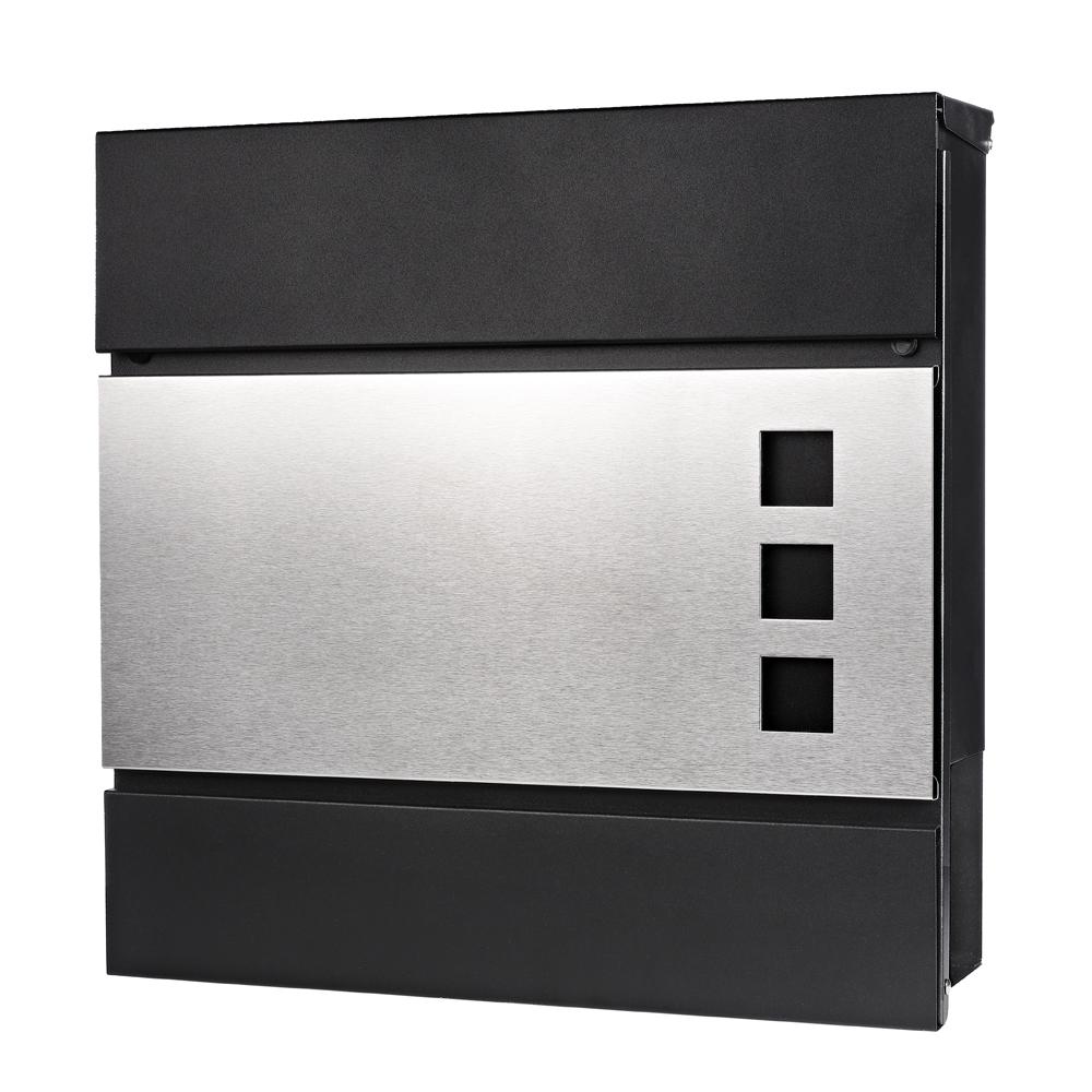 Skrzynki na listy Briefkasten Wandbriefkasten Edelstahl Zeitungsfach Design Mailbox Brief Kasten