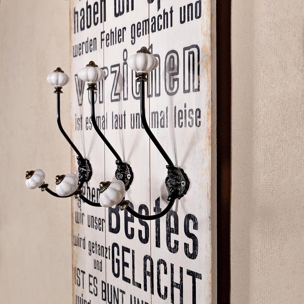 100cm garderobenleiste vintage wandgarderobe jackenhalter for Garderobenleiste 100 cm