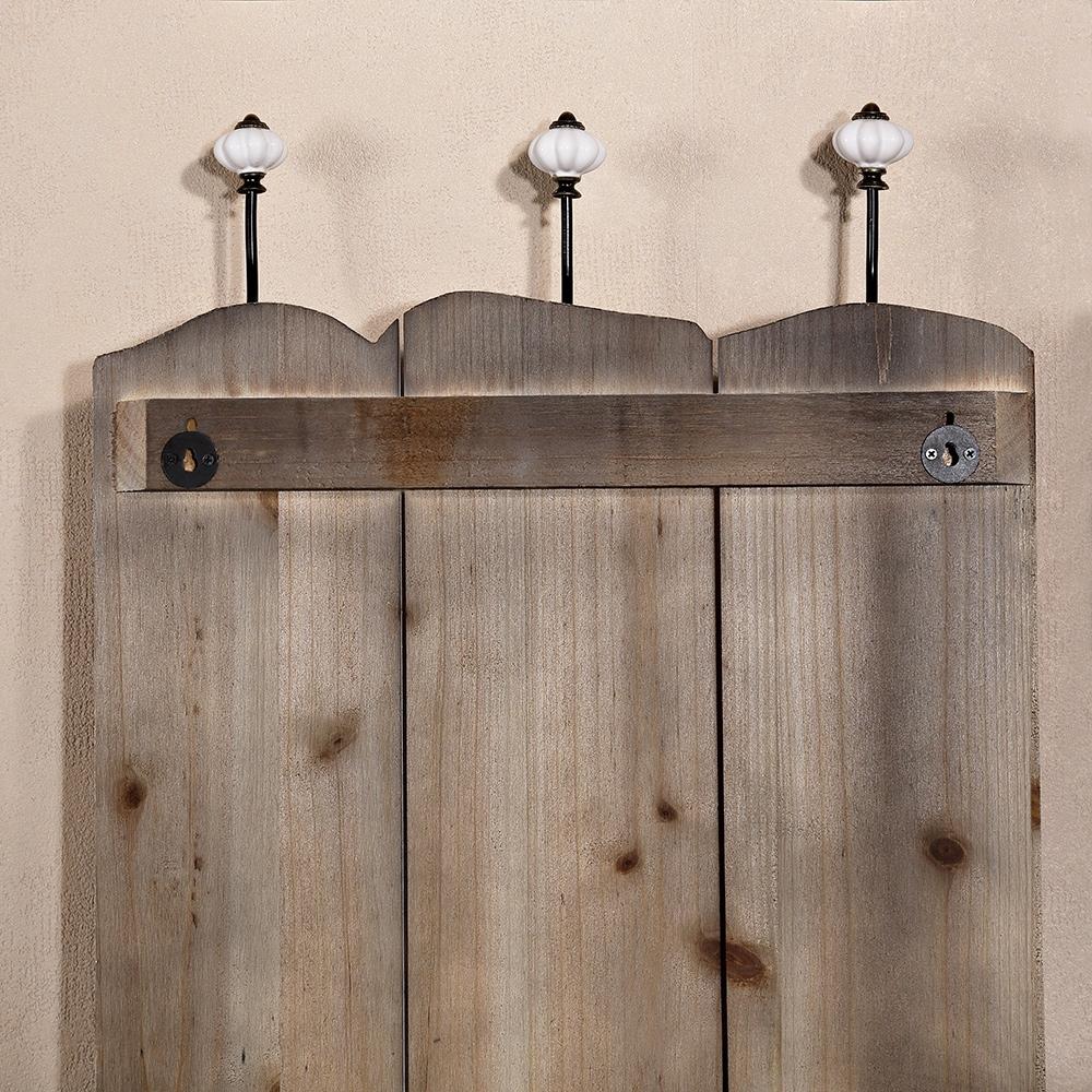 100cm garderobenleiste vintage wandgarderobe jackenhalter. Black Bedroom Furniture Sets. Home Design Ideas