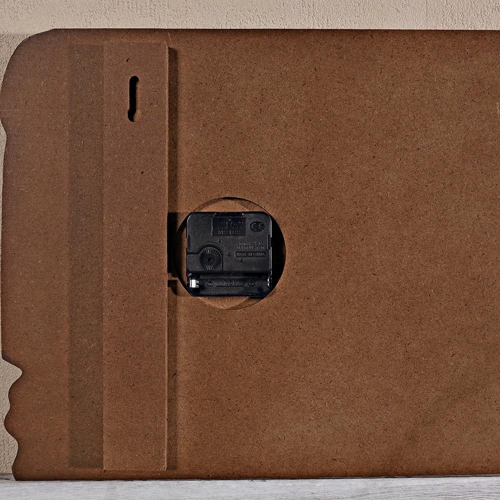 wanduhr uhrpaneel 80x30 cm wand bild bahnhofsuhr holz. Black Bedroom Furniture Sets. Home Design Ideas