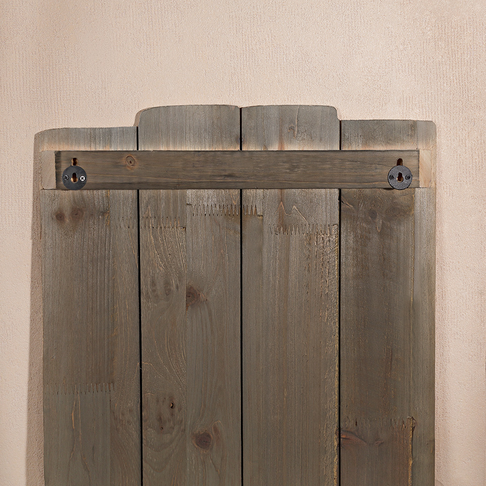 60x40 garderobenleiste 3 jackenhaken shabby chic garderobe for Garderobe vintage