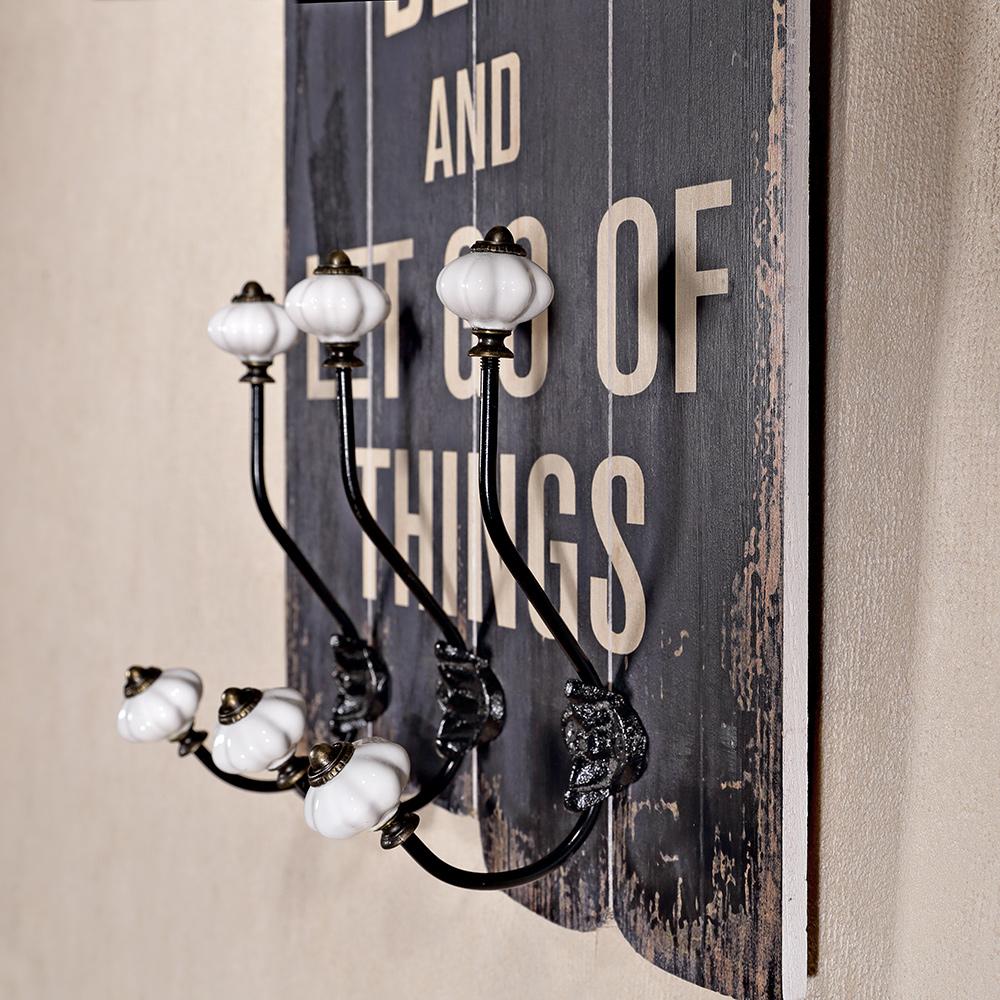60cm h ngegarderobe spruch 3 jackenhaken hutablage. Black Bedroom Furniture Sets. Home Design Ideas