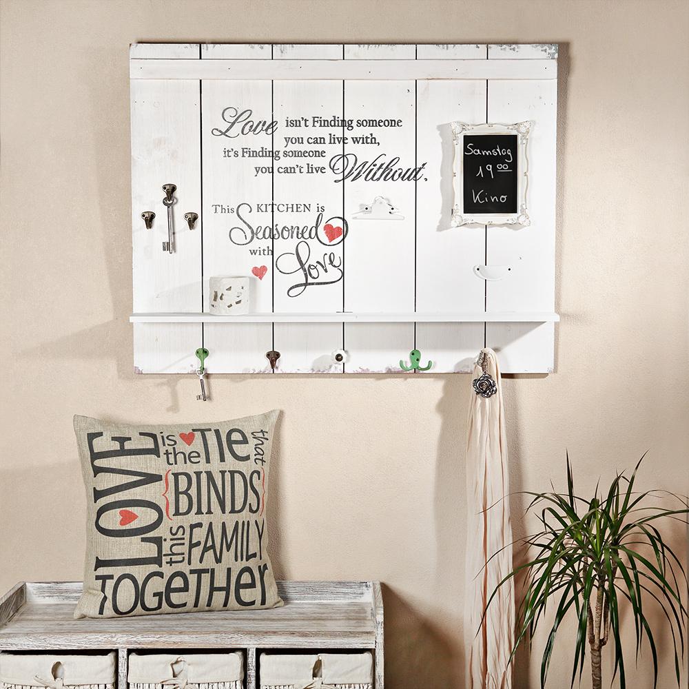 89cm holzbild ablage garderobenhaken tafel im fotohalter holz shabby schrift m ebay. Black Bedroom Furniture Sets. Home Design Ideas