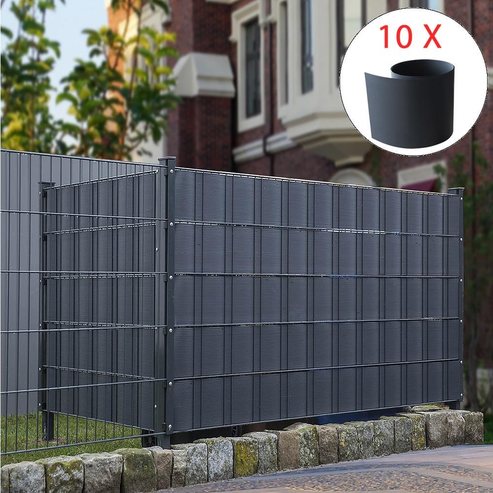 10x Hart Pvc Sichtschutz Anthrazit Sichtschutzstreifen