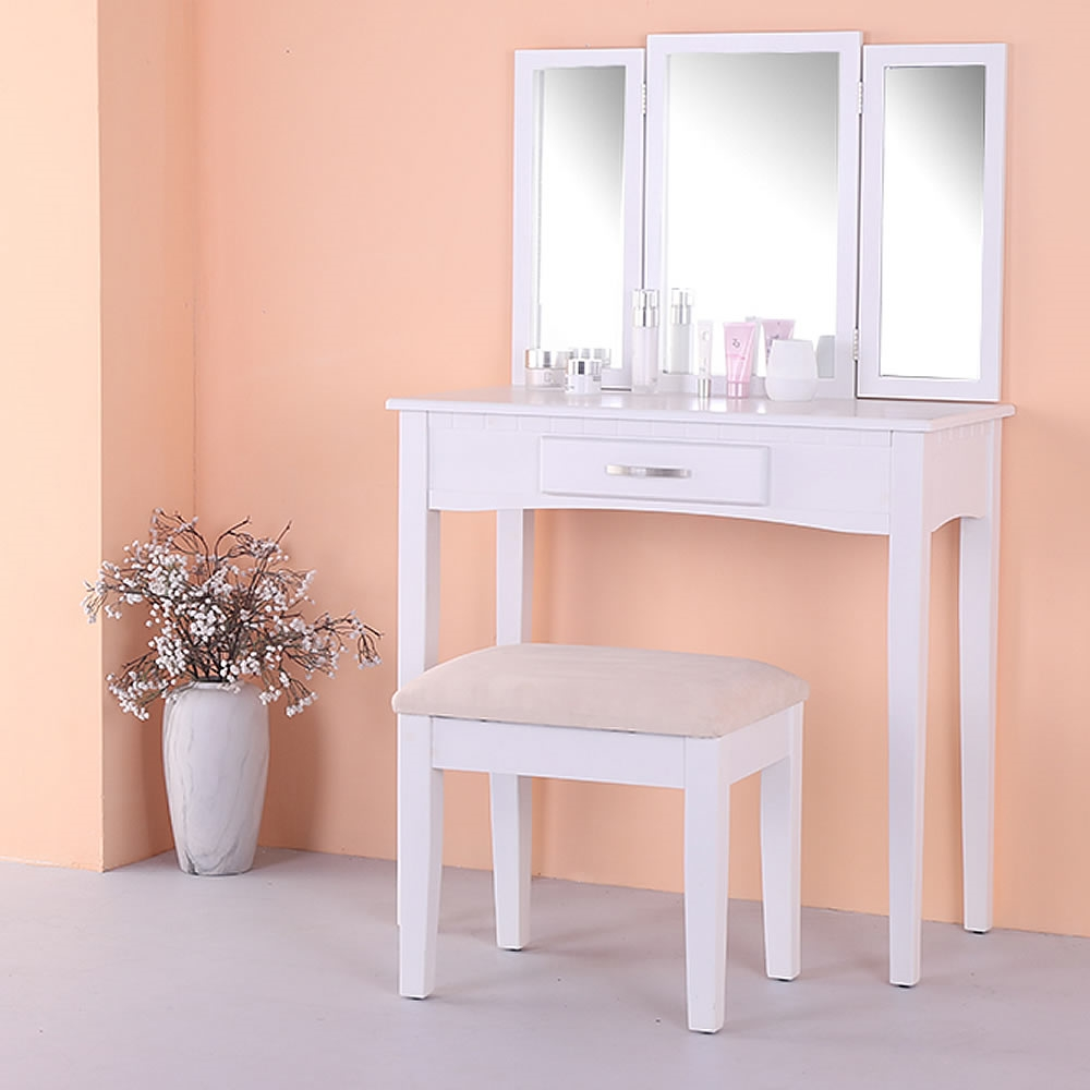 schminktisch kosmetiktisch frisiertisch hocker spiegel wei 3tlg set kommode ebay