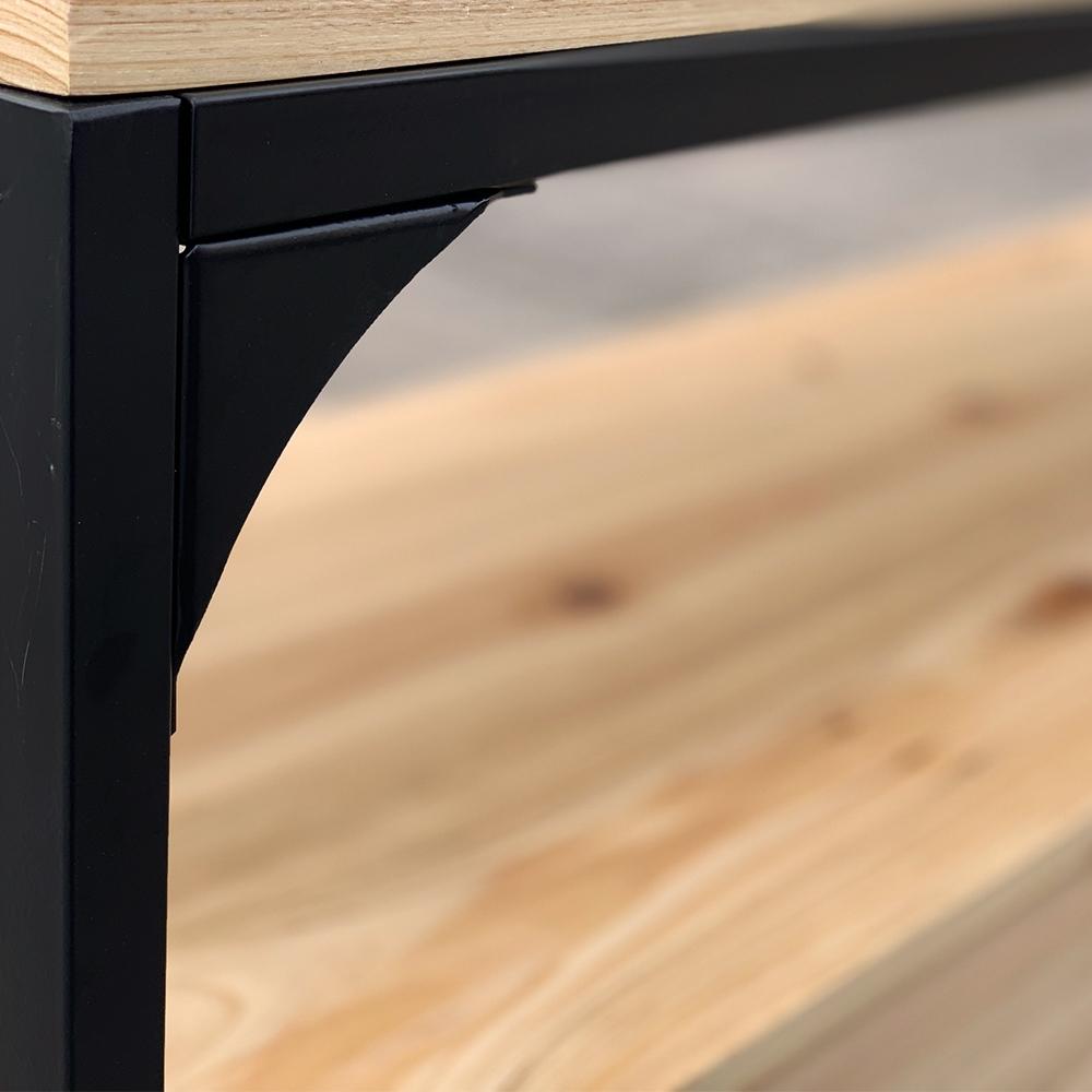 Sideboard TV Board Lowboard Kommode Anrichte 120x40cm Metall Holz Beistelltisch