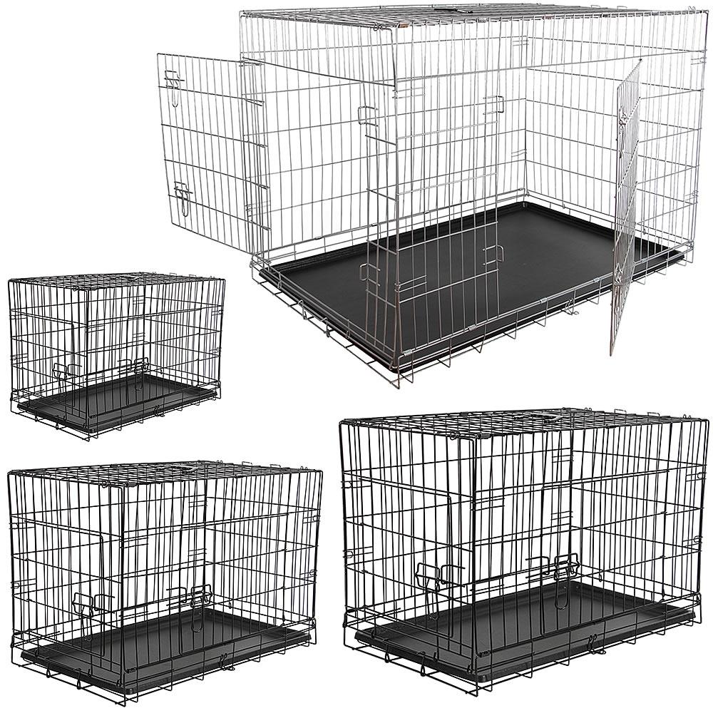 Hundetransportbox Falltbar Drahtkäfig Hunde Transportbox Gitterbox Hundekäfig