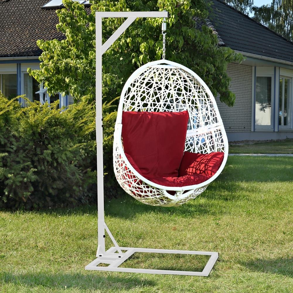 Polyrattan lounge swing chair h ngesessel schwebesitz - Hangestuhl rattan ...
