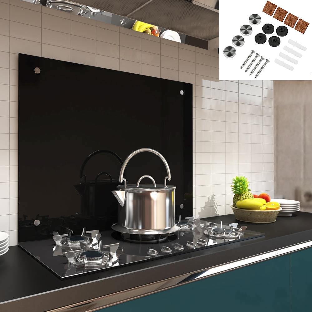 90x50CM Glas Küchenrückwand Spritzschutz ESG Fliesenspiegel Küche ...