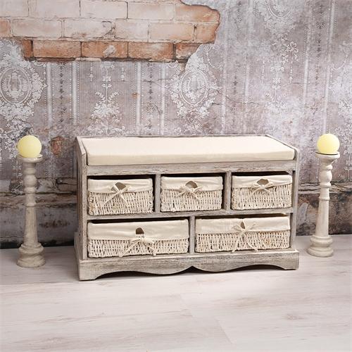 sitzbank truhenbank flurkommode regal schrank holz shabby chic vintage sitzm bel ebay. Black Bedroom Furniture Sets. Home Design Ideas