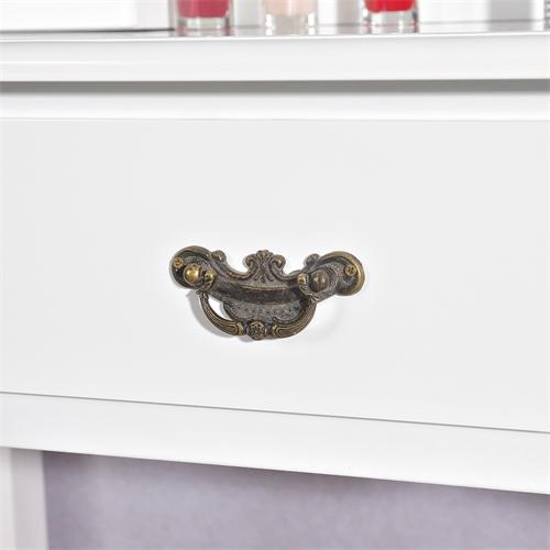 kosmetiktisch spiegel hocker wei braun sekret r. Black Bedroom Furniture Sets. Home Design Ideas