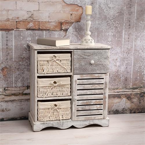 konsole sitzbank truhenbank hochregal used look shabby. Black Bedroom Furniture Sets. Home Design Ideas