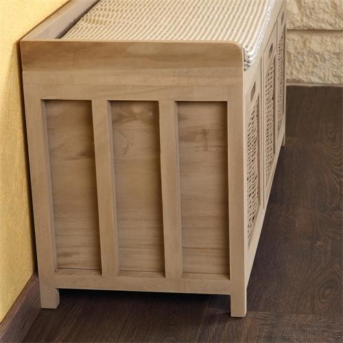 bank sitzbank holz wei truhe flurbank kommode mit. Black Bedroom Furniture Sets. Home Design Ideas