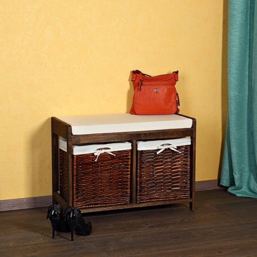 sitzbank flurbank holz wei landhaus holzbank truhe. Black Bedroom Furniture Sets. Home Design Ideas