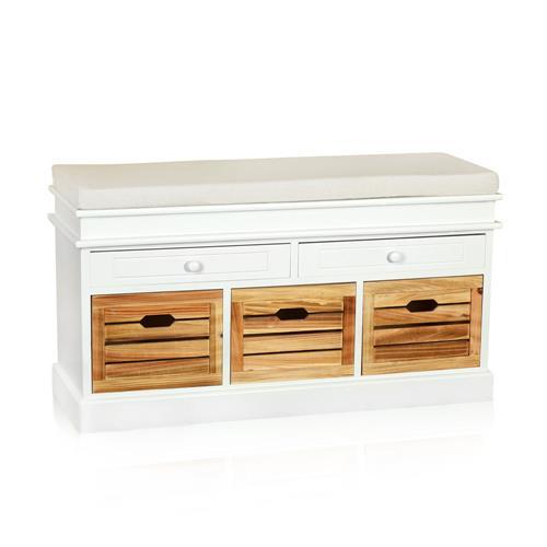 sitzbank truhe kommode inkl k rben wei schwarz. Black Bedroom Furniture Sets. Home Design Ideas