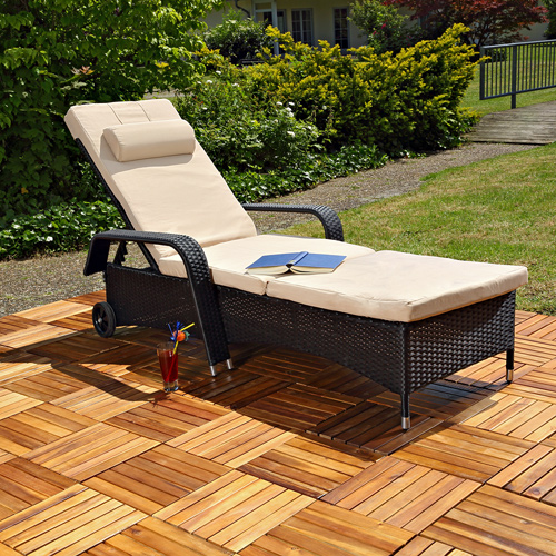 rattan loungeliege sonnenliege gartenliege relaxliege terrassenliege polyrattan ebay. Black Bedroom Furniture Sets. Home Design Ideas
