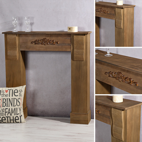 kamin kaminattrappe deko kaminkonsole kaminumbau kaminsims kaminumrandung ebay. Black Bedroom Furniture Sets. Home Design Ideas
