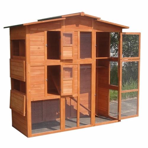 h hnerstall h hnerhaus gefl gelstall hasenstall freilauf holz kaninchenk fig xxl ebay. Black Bedroom Furniture Sets. Home Design Ideas