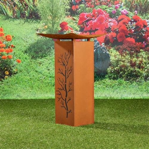 garten deko feuerkugel pflanzkugel edelrost. Black Bedroom Furniture Sets. Home Design Ideas
