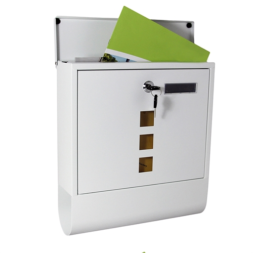 mucola briefkasten edelstahl wandbriefkasten letterbox zeitungsfach einwurf ebay. Black Bedroom Furniture Sets. Home Design Ideas