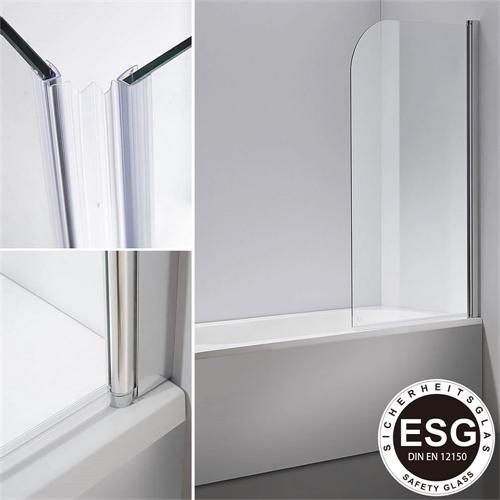 badewannenaufsatz 140 cm glas duschabtrennung badewanne. Black Bedroom Furniture Sets. Home Design Ideas