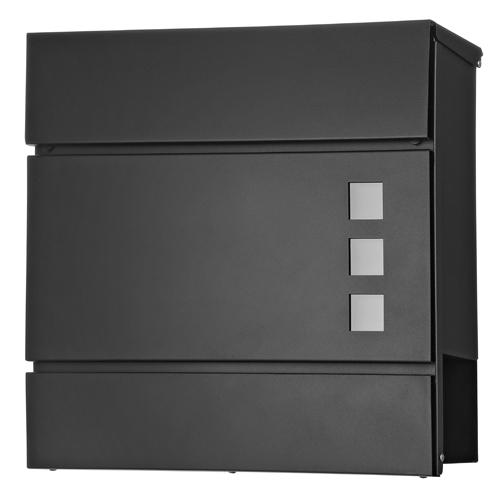 briefkasten edelstahl wandbriefkasten zeitungsfach design mailbox kasten schwarz ebay. Black Bedroom Furniture Sets. Home Design Ideas
