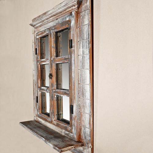 deko spiegel fensterl den bilderrahmen shabby braun. Black Bedroom Furniture Sets. Home Design Ideas