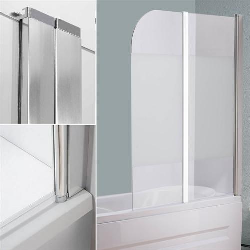 glas duschabtrennung badewannenaufsatz faltwand badewanne badewannenfaltwand ebay. Black Bedroom Furniture Sets. Home Design Ideas
