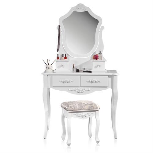 nachtschrank nachtkonsole vintage stil verzierungen wei 3 schubladen ornamente ebay. Black Bedroom Furniture Sets. Home Design Ideas