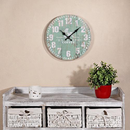 wanduhr 60cm k chenuhr shabby chic dekouhr bahnhofsuhr. Black Bedroom Furniture Sets. Home Design Ideas