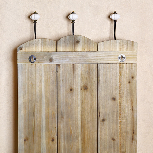 flurgarderobe mit 6 haken wandgarderobe hakenleiste paneel garderobe holz 100cm ebay. Black Bedroom Furniture Sets. Home Design Ideas
